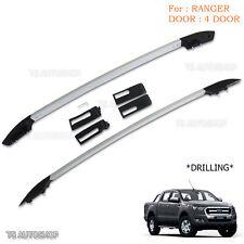 Fit Ford Ranger T6 Mk2 Xlt Px Ute Wildtrak 4Dr 12-16 Aluminum Real Roof Rack Bar
