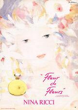 PUBLICITE ADVERTISING 064  1982  NINA RICCI  parfum  FLEUR DE FLEURS