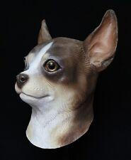 Chihuahua Dog Mask Chiwawa Latex Fancy Dress Canine Costume Halloween Pet Animal