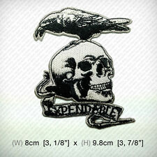 new The Expendables Crow & Skull Embroidered Patch Iron on , Sew , Movies Tattoo