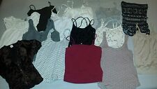 Lot of 14 Womens Hollister, Guess, Wet Seal Tank Tops & Shirts Size Small