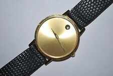 MOVADO 87-33-882 Original Wrist Watch Gents Ladies Swiss Quartz Works Fine