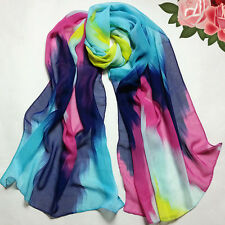 Women Chiffon Ink Style Oil painting Wrap Lady Shawl Color Scarf Scarves HOT