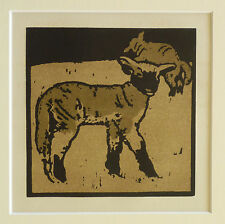 William Nicholson VINTAGE 1900 Lithograph, molto leggera AGNELLO