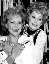 LUCILLE BALL BETTY WHITE CANDID PHOTO - Together at a 1987 book signing party