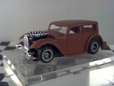 32 Chopped Hot Rat Rodl Brown Roof  Sedan  HO Scale Slot Car Body Only