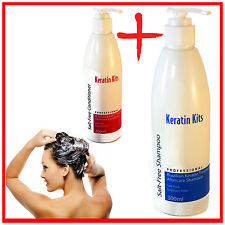 Keratin Shampoo and Conditioner Brazilian Treatment Aftercare Kit Salt Free