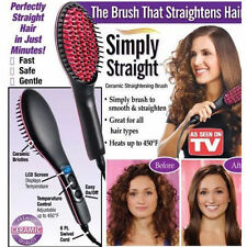 2016 New Simply Artifact Straight Hair LCD Straightener Comb Brush As Seen on TV