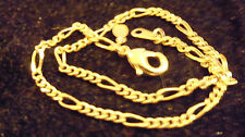 bling gold plated figaro link chain hip hop necklace jewelry pimp thug link thin
