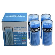NEW 400PCs Dental Disposable Micro Brush Dental Materials Micro Applicators Blue