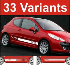 Peugeot 207 side stripe decals stickers gti hdi etc choix de design 2 off