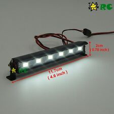 RC 1/10 Aluminum LED Light Bar 6V ~ 7.4V JR Plug 6 lights F AXIAL RC4WD Crawler
