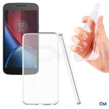 Motorola Moto G4 2016 Phone Ultra Thin Clear Soft Gel TPU Bumper Case Cover