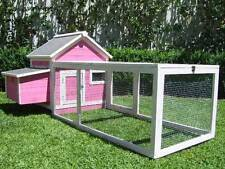 Chicken Coop Somerzby Pink Cottage Rabbit Hutch Guinea pig cage large Quail run