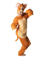 Adult Jerry Mouse Tom And Jerry Fancy Dress Costume Cartoon Mens Gents Male BN