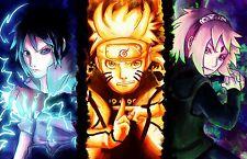 Poster A3 Naruto Shippuden Uzumaki Naruto Uchiha Sasuke Sakura Haruno