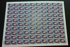 2000 Malaysia Sports DAWEI Table Tennis, 100v Imperf Stamps Full Sheet Mint NH
