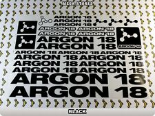 ARGON 18 Stickers Decals Bicycles Bikes Cycles Frames Forks Mountain MTB BMX 59V