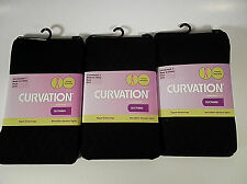 3 Curvation Textured Tights BLACK DIAMOND PATTERN ,LOT OF 3 PAIRS,CURVACEOUS 1