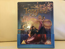 Disney Tangled 3D Steelbook Blu Ray Zavvi Exclusivo ** Nuevo Y Sellado **