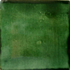 S#01) Set NINE Mexican Tiles Clay Tile WASHED GREEN COLOR