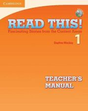Read This! Level 1 Teacher's Manual with Audio CD: Fascinating Stories from the