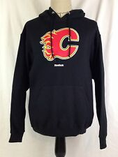 Calgary Flames Mens Hoodie L Size Hockey Reebok Face Off Pullover Jacket NHL NWT