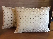 "pkt 2 romo fiora collection cushions 14 x 18"" cream designer with inners"