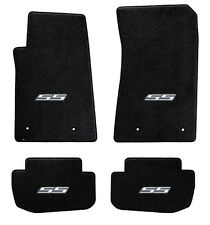 NEW! BLACK FLOOR MATS 2014-2015 Camaro Embroidered Logo SS in Silver on all 4
