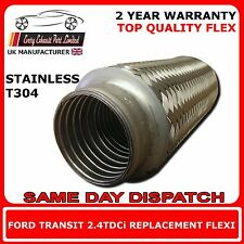Ford Transit 2.4TDCi 2006 Onward DIY Exhaust Replacement Flex Flexi For Cat Pipe