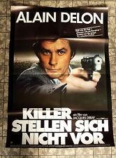 ALAIN DELON * Killer stellen sich nicht vor * A1-FILMPOSTER - Ger 1-Sheet 1981