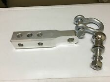 """Aluminum Solid Tow Hitch Draw Bar Receiver 9.3"""" long with Shackle + Ball"""