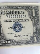 Series A 1957 Blue Seal  Silver Certificate $1 Dollar Bill #V 63295280 A