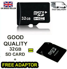 32GB Micro SD TF Flash Class 10 Memory Card + Free Adapter Phone Tablet PC