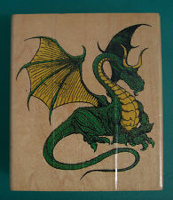 Rubber Stamp Horned Dragon Mythical Fantasy Castle Creature 4223-X Inkadinkado