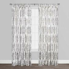 White Octavia Cotton Voile Curtains Set of 2  from World  Market