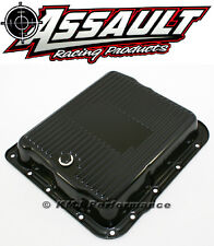 GM 700R4 4L60E Black Transmission Pan Stock Capacity Automatic Trans 4L60 4L65E