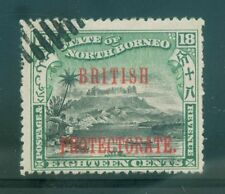 [JSC] 1901-05 NORTH BORNEO  18c 'British Protectorate' ovpt Isc# 120