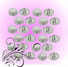 400 Self Cover Buttons 19mm Fabric Cover SHANK Back DIY opt Tools Hairties / Sew