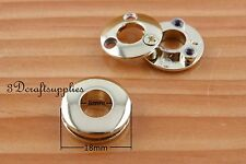 eyelets metal with washer grommets light gold Alloying round 8 sets 8 mm CK74
