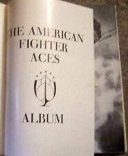 US Army Air Force Navy Fighter Ace Profile Album Book War Battle Pilot Squadron