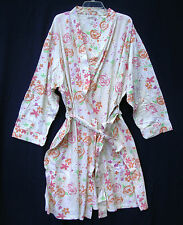 new SILHOUETTES Cotton Robe 2X Plus Size Womens Floral mid calf light bathrobe