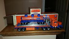 Lionel TMT18410 Flatbed Toy Truck,w/Operating Lights-Sounds 3-Dome Tank Car-MINT