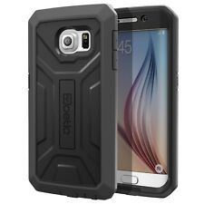 Poetic Revolution Armor Shockproof Hybrid Case For Samsung Galaxy S6 Edge Black