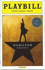 HAMILTON Broadway OPENING NIGHT Playbill LIN-MANUEL MIRANDA Jonathan Groff (GLEE