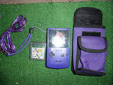 NINTENDO GAME BOY COLOR GBC NGBC GRAPE PURPLE CONSOLE +GAMES Inc RARE POKEMON