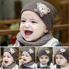 Lovely Polka Dot Soft Brown Cotton Hat For New Born Kid Boy/Girl Baby Toddler CN