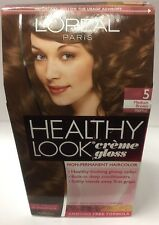 L'Oreal Healthy Look Creme Gloss Hair Color Medium Brown/Truffle #5 NEW.