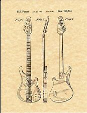 Patent Print - Gibson Victory Bass Guitar 1983 - Art Print. Ready To Be Framed!