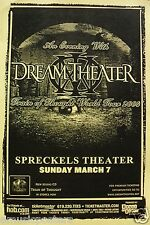 """DREAM THEATER 2004 """"TRAIN OF THOUGHT TOUR"""" SAN DIEGO CONCERT TOUR POSTER"""